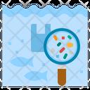 Microplastics Water Pollution Icon