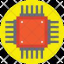 Microprocessor Microchip Circuit Icon