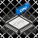 Computer Processor Cpu Chip Computer Chip Icon