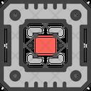 Microprocessor Microchip Chip Icon