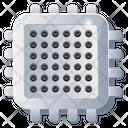 Microchip Microprocessor Chip Icon