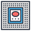 Microprocessor Integrated Circuit Icon