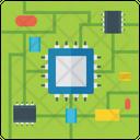 Microprocessor Chip Microchip Icon