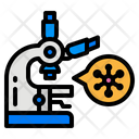 Microscope Virus Lap Test Research Icon