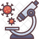 Microscope Virus Research Icon