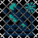 Microscope Virus Testing Research Virus Icon