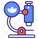 Microscope Flower Research Research Icon