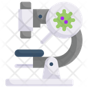 Microscope Virus Icon