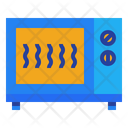 Microwave Heating Cooking Icon