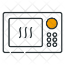 Microwave Appliance Heating Icon