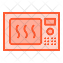 Microwave Oven Cooking Icon