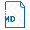 Mid File Document Icon
