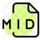Mid File Audio File Audio Format Icon