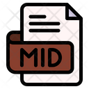 Mid File Type File Format Icon