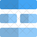 Middle Horizontal Grid Icon