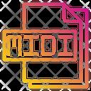 Midi File File Type Icon
