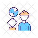 Migrant Worker Family Icon