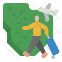 Migration Diaspora Travel Icon