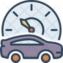 Mileage Speedometer Accelerate Icon