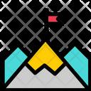 Mountain Flag Success Icon