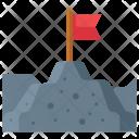 Milestone Mountain Landscape Icon