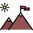 Milestone Discovery Mountain Icon