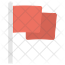 Milestone Flagpole Flag Icon