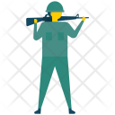 Soldier Militant Fighter Icon