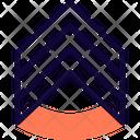 Military Rank Badge Triple Stripe Icon