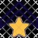 Military Rank Star Badge Single Stripe Icon
