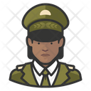 Military Black Woman Military General Icon
