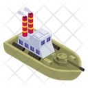 Military Ship Military Boat Armoured Boat Icon