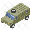 Military Jeep Armored Vehicle Transportation Icon