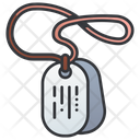 Dog Tag Military Icon