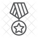Military Medal Star Icon