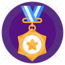 Honor Military Medal Prize Icon