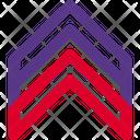 Military Ran Badge Triple Stripe Icon