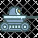 Tank Military Futuristic Icon