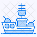 Military Ship Yacht Sailboat Icon
