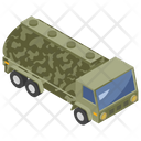 Military Truck Transportation Armored Vehicle Icon