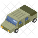 Military Van Armored Vehicle Transportation Icon