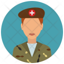 Military Medical Woman Icon