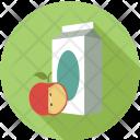 Milk Pack Apple Icon