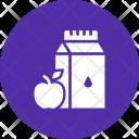 Milk Apple Nutrition Icon