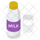 Milk Bottle Liquid Food Milk Can Icon
