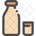 Milk Bottle Glass Icon