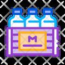 Pack Milk Bottles Icon