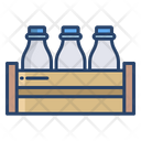 Milk Bottle Milk Bottles Milk Bottle Rack Icon