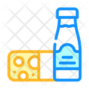 Milk Cheese Dairy Icon