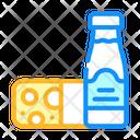 Milk Cheese Dairy Icon